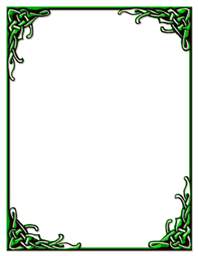 Free: Celtic Knot Border Green Stationery Print-ready PDF ...