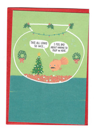Funny Christmas Card Unused With Envelope