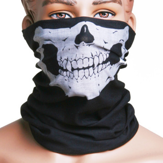 Skull Multi Use Head Wear Hat Scarf Face Mask
