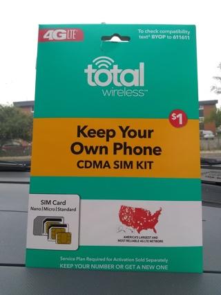 4g lte total wireless SIM card
