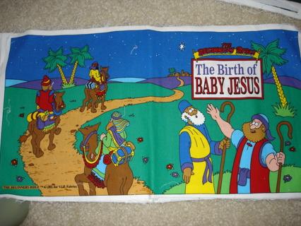 Birth of Baby Jesus Fabric Book Panel