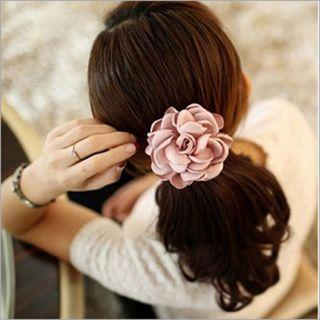 Women Girl Elastic Hair Band Rope Flower Ponytail Holder Scrunchie