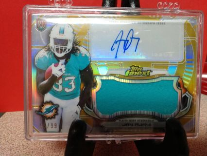 2015 TOPPS FINEST GOLD JAY AJAYI ROOKIE RC AUTO JERSEY RPA # AJRR-JA num 55/99 MIAMI DOLPHINS