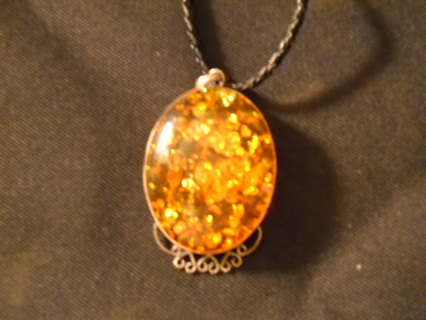 """Pendant with 17"""" necklace rope"""