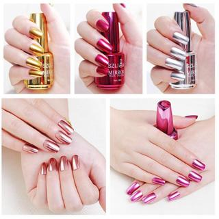 100% Brand New Metallic Nail Polish Magic Mirror Effect Chrome Harmless Long-Lasting Nail Art Poli