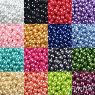 Acrylic Pearl Round Spacer Loose Beads DIY 4mm/6mm/8mm/10mm/12mm