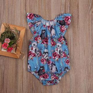 Newborn Baby Girls Star Wars Flower Romper Bodysuit Jumpsuit Outfits Clothes