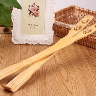 """18"""" Handy Bamboo Wooden Massager Back Scratcher Body Stick Roller Itch Relaxer"""