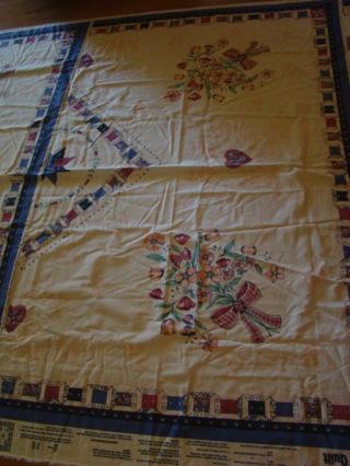 vintage cheater quilt cotton top
