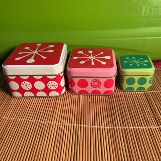 Nesting tin boxes
