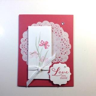 Love You More - Handmade card