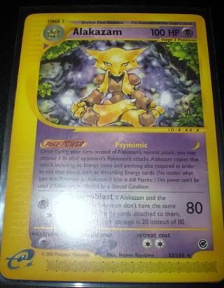 Free: Pokemon Card- E Expedition/Ereader Alakazam X2