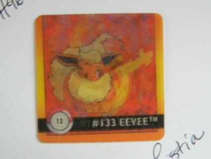 c1999 Nintendo Artbox Pokemon Action Flipz Holo Double Pokemon Card 13 (#133 Eevee & #136 Flareon)