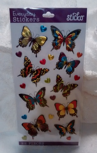 NEW BUTTERFLY SCRAPBOOKING STICKERS!! AUCTION #1