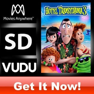 HOTEL TRANSYLVANIA 3 SD MOVIES ANYWHERE OR VUDU CODE ONLY