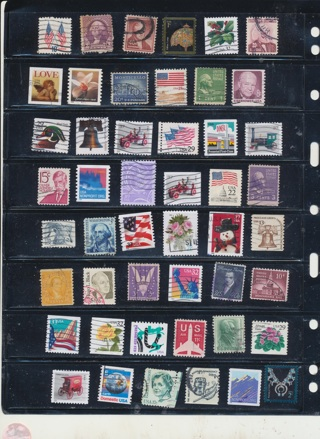 (50 + 5 Bonus)  Stamps from The United States, Cancelled, Used, Vintage - US-1035