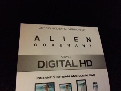 Digital code Alien covenant