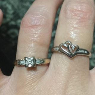 2 10k diamond rings lot