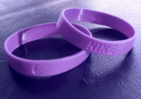 1 baksteball sports wristband bracelet purple NIKE check symbol