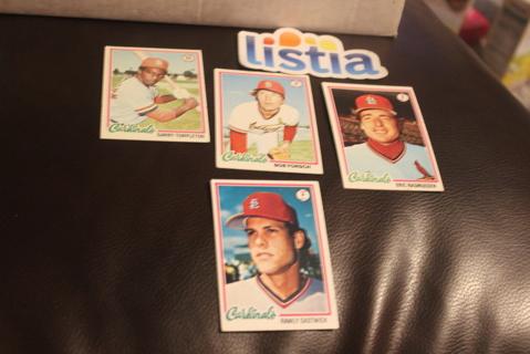 (4) 1978 Topps Baseball St Louis Cardinals MLB Templeton
