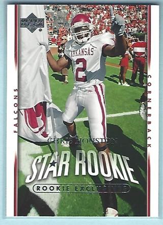 2007 Upper Deck Exclusive Edition Rookies #206 Chris Houston Atlanta Falcons