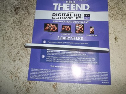This is the End UV Code