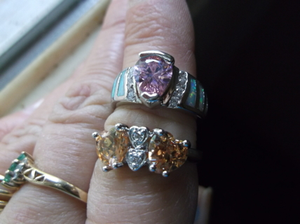 !!!! CHOICE SILVER RING. WINNER WILL RECIEVE ONE RING OF THIER CHOICE. BOTH STAMPED .925 !!!!