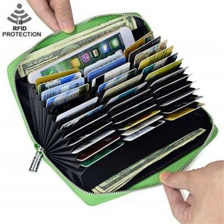 Fast Delivery - New Leather Large Capacity Credit ID Card Holder RFID Blocking Wallet #1