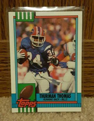 NFL...Thurman Thomas...1990 Topps.. Hall of Fame Running Back...