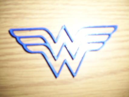 Wonder Woman Logo 2 Cookie Cutter -  (3D Printed Plastic)