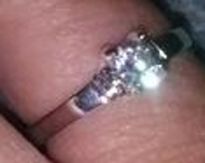 Silver ring with cz stone in it very pretty size 6.25