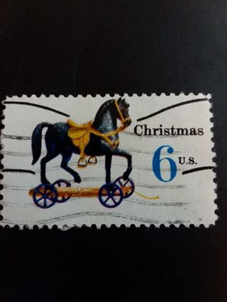 Hobby Horse Christmas Stamp 6 c US postmarked