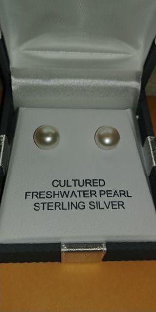 Sterling Silver Cultured Freshwater Pearl Earrings