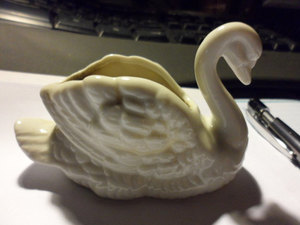 ceramic swan candle holder