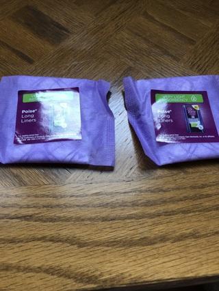 2 brand new poise liner samples