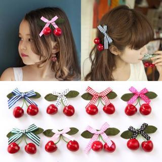 2018  Cute Kids Infant Baby Girl Hair Clip Cartoon Cherry Hairclip Hairpin  baby headbands for gi