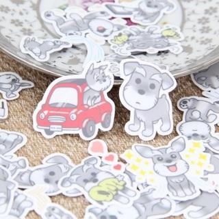 ❥ Grey Scottie Puppy Dog Kawaii High End Sticker Flakes Set of 10 BRAND NEW ❥