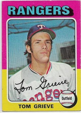 1975 TOPPS TOM GRIEVE CARD