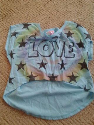 Womens small love shirt brand: mighty fine