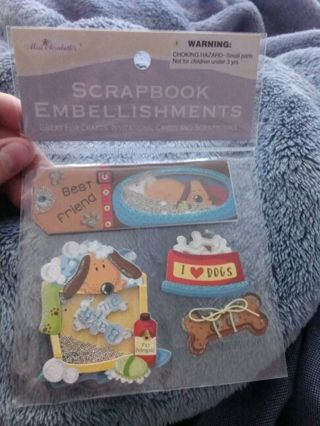 Puppy Scrapbook embellishments
