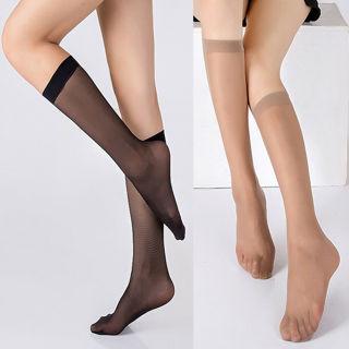 2Pairs Sexy Silk Socks Thigh High Stockings Women Girls Hosiery Sheer Mesh Breathable