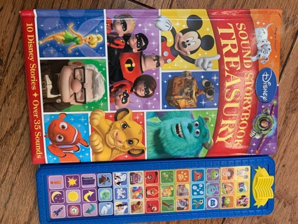 Disney- sound story book treasury+ The lion king 3 movie story books- used but look great