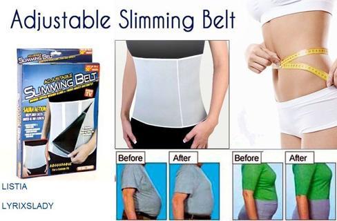 FREE s&h Slimming Belt Adjustable Slim Away Weight Loss Belt Sauna Action As Seen On TV