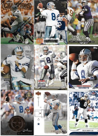 Troy Aikman 25 Card Lot