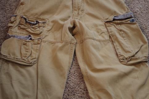 Mens 30x30 tan pants~many pockets