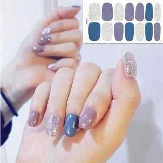 2019 Korea Designed Full Wraps Shiny Nail Art Sticker Decals Multicolor Nail Stickers Strips DIY S