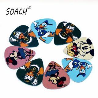 SOACH 10PCS 0.46mm high quality guitar picks two side pick bass guitarra picks earrings DIY Mix