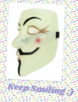 NEW Anonymous V for Vendetta Mask We Are Legion Guy Fawkes Costume FREE SHIPPING