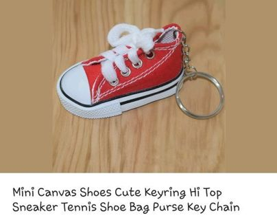 *** RED SHOE KEYCHAIN ***
