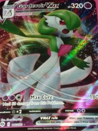 Gardevoir VMAX 017/073 Textured Full Art Champions Path Ultra Rare Pokemon Card NM-MINT